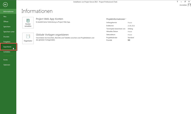 XML aus MS Project 2013 exportieren   MacPM.net
