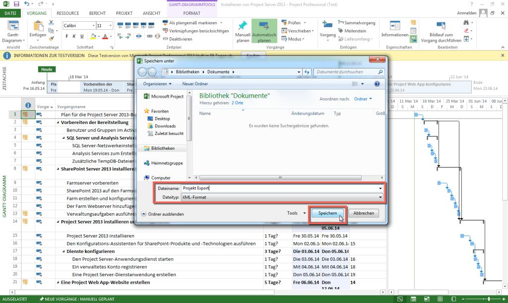 MS Project 2013 XML Export 4