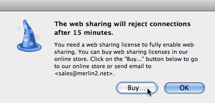 web sharing in demo...buy license