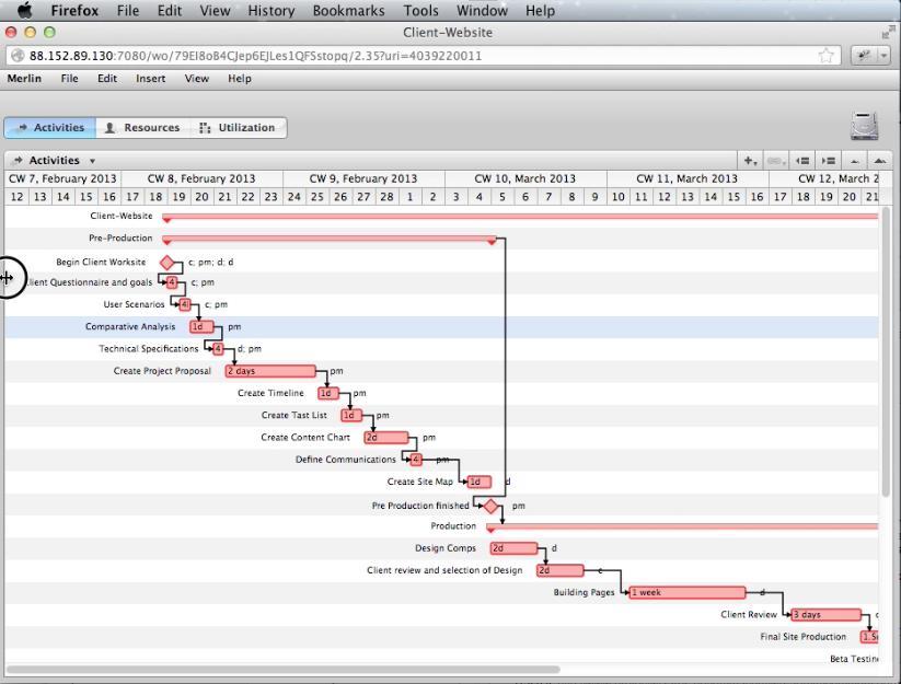 Merlin Gantt Chart Is Missing Macpm